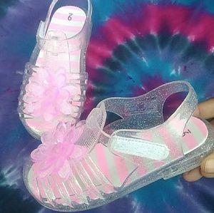Pink Jelly Sandals ( Wonder Nation)